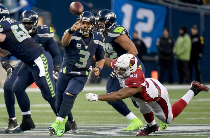 SEATTLE, WA - DECEMBER 24: Quarterback Russell Wilson (Photo by Steve Dykes/Getty Images)