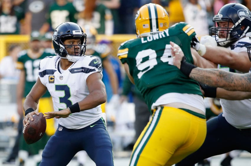 GREEN BAY, WI - SEPTEMBER 10: Russell Wilson (Photo by Joe Robbins/Getty Images)