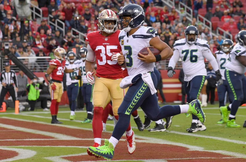 SANTA CLARA, CA - NOVEMBER 26: Russell Wilson (Photo by Thearon W. Henderson/Getty Images)