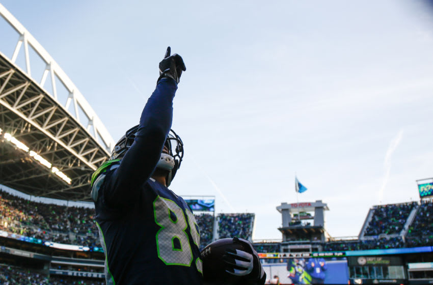 SEATTLE, WA - DECEMBER 31: Wide receiver Doug Baldwin (Photo by Otto Greule Jr/Getty Images)
