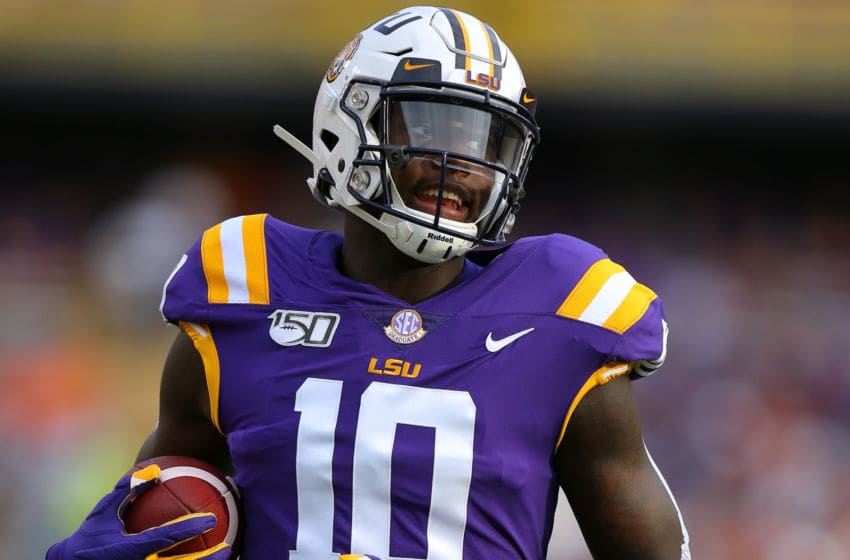 BATON ROUGE, LOUISIANA - SEPTEMBER 14: Stephen Sullivan #10 of the LSU Tigers in action during a game against the Northwestern State Demons at Tiger Stadium on September 14, 2019 in Baton Rouge, Louisiana. (Photo by Jonathan Bachman/Getty Images)