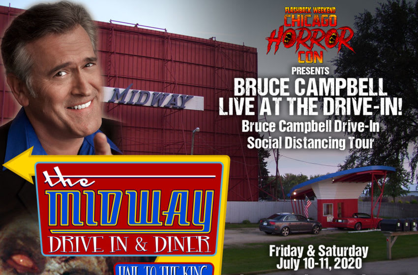 Flashback Weekend presents Bruce Campbell live at the drive-in. Image Courtesy Flashback Weekend