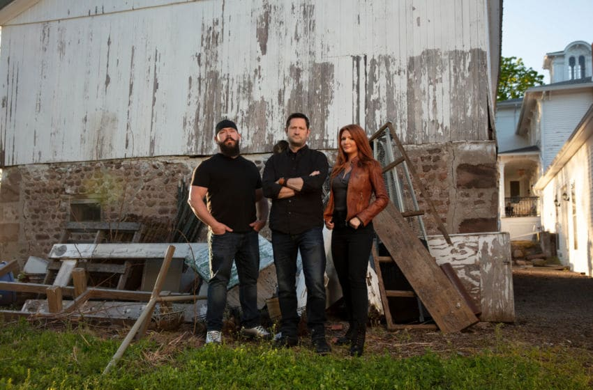 "(l to r) Daryl Marston, Grant Wilson and Kristen Luman from A&E's ""Ghost Hunters."" Premieres Wed, 8/21 at 9pm ET/PT. Photo by Justin Bettman/A&E Copyright 2019"