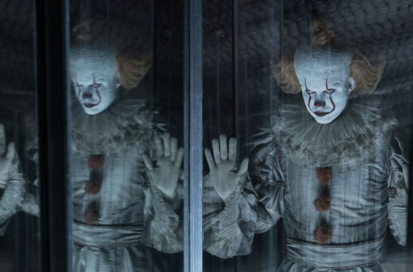 BILL SKARSGÅRD as Pennywise in New Line Cinema's horror thriller