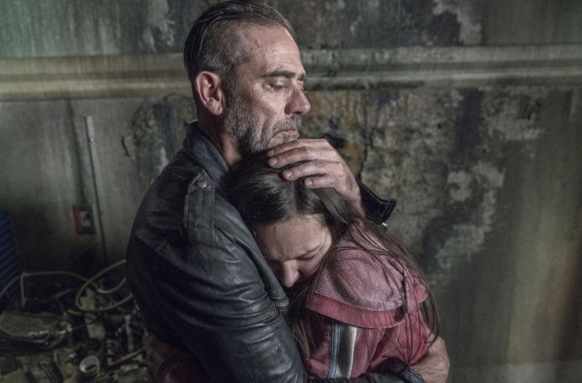 Cassady McClincy as Lydia, Jeffrey Dean Morgan as Negan - The Walking Dead _ Season 10, Episode 15 - Photo Credit: Jace Downs/AMC