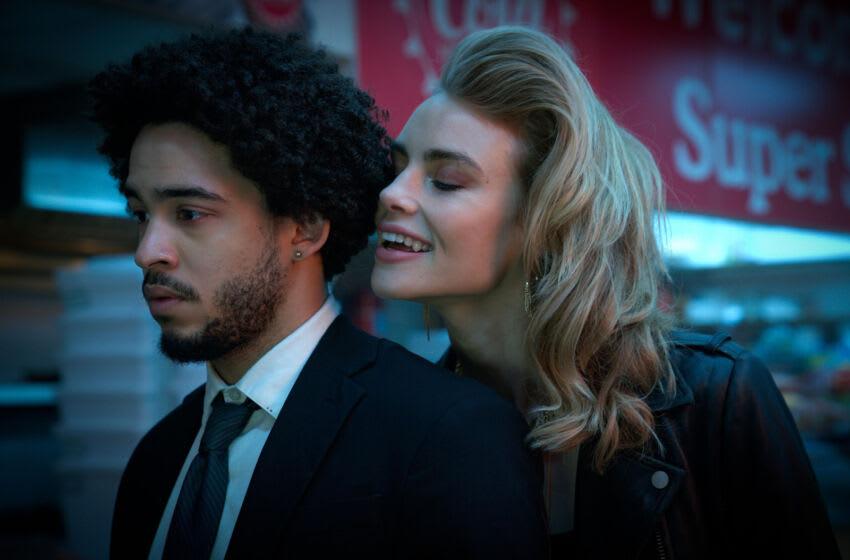 NIGHT TEETH (2021) Jorge Lengeborg Jr. as Benny and Lucy Fry as Zoe. Cr: Kat Marcinowski/NETFLIX