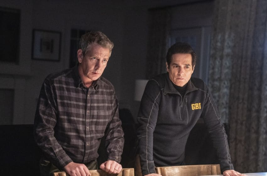 Photo: Ben Mendelsohn and Yul Vazquez in The Outsider.. Image Courtesy Bob Mahoney/HBO
