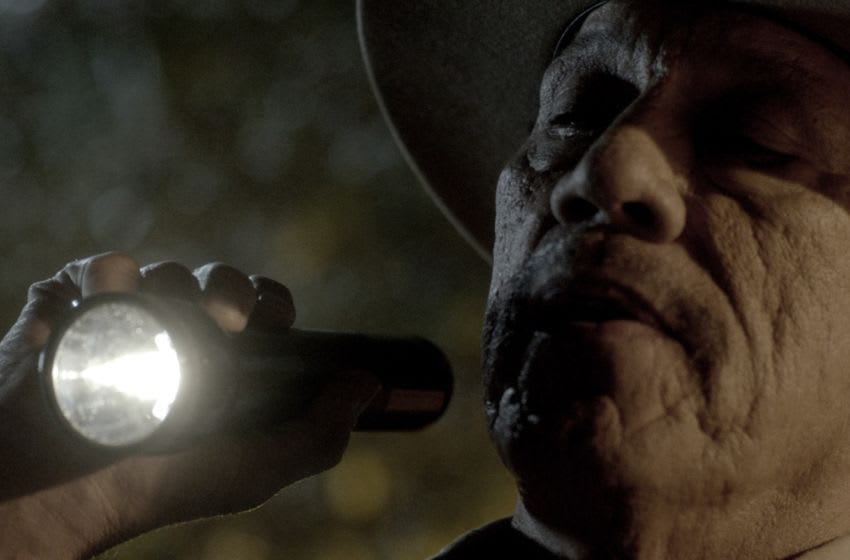 Danny Trejo as Sheriff Lorenzo in Murder in the Woods. Image Courtesy REZINATE Pictures