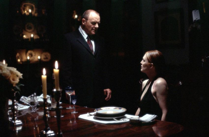 384593 04: Actors Anthony Hopkins stars as Dr. Hannibal Lecter and Julianne Moore stars as FBI Agent Clarice Starling in Metro-Goldwyn-Mayer Pictures'' (and Universal Pictures in association with Dino De Laurentiis) thriller