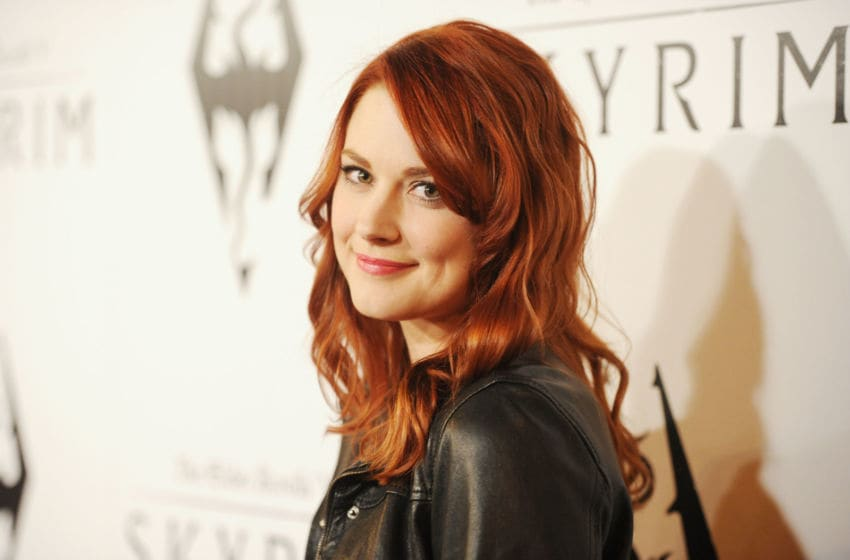 LOS ANGELES, CA - NOVEMBER 08: Actress Alexandra Breckenridge arrives at the official launch party for the most anticipated video game of the year, The Elder Scrolls V: Skyrim, at the Belasco Theatre on November 8, 2011 in Los Angeles, California. (Photo by Jason Merritt/Getty Images)