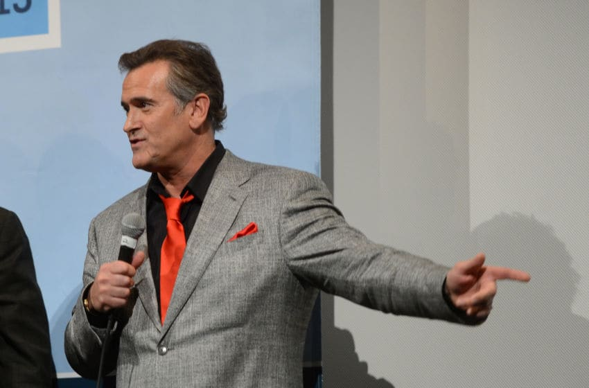 AUSTIN, TX - MARCH 08: Producer Bruce Campbell speaks at the Q & A during the screening of
