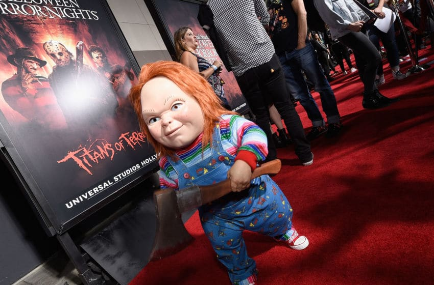UNIVERSAL CITY, CA - SEPTEMBER 15: Chucky attends Halloween Horror Nights Opening Night Red Carpet at Universal Studios Hollywood on September 15, 2017 in Universal City, California. (Photo by Kevork Djansezian/Getty Images for Universal Studios Hollywood)