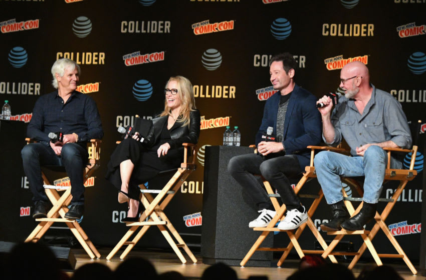 Chris Carter, David Duchovny, Gillian Anderson and Mitch Pileggi (Photo by Dia Dipasupil/Getty Images)
