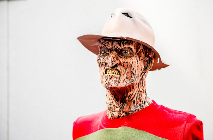 LONDON, ENGLAND - JULY 28: A Freddy Krueger from the A Nightmare on Elm Street series bust seen during London Film and Comic Con 2019 at Olympia London on July 28, 2019 in London, England. (Photo by Ollie Millington/Getty Images)