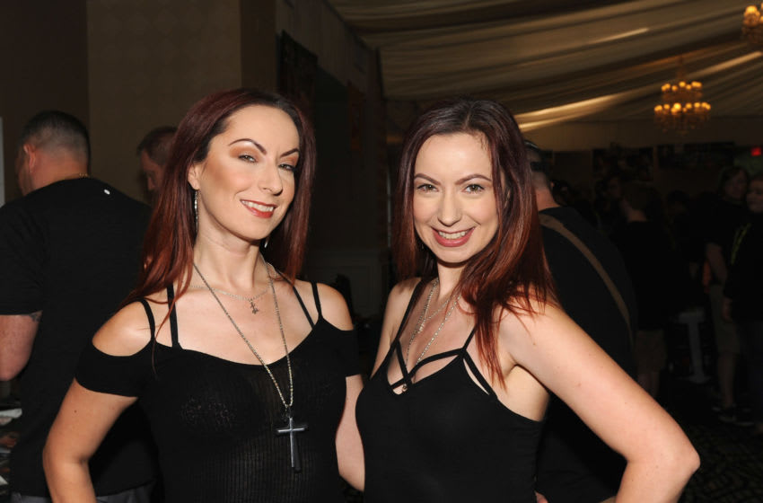 CHERRY HILL, NJ - AUGUST 18: Jen Soska and her sister Sylvia Soska attend the Monster Mania Con 2017 at NJ Crowne Plaza Hotel on August 18, 2017 in Cherry Hill, New Jersey. (Photo by Bobby Bank/Getty Images)