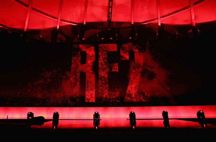 LOS ANGELES, CA - JUNE 11: 'Resident Evil 2' is revealed during the Sony Playstation E3 conference at LA Center Studios on June 11, 2018 in Los Angeles, California. The E3 Game Conference begins on Tuesday June 12. (Photo by Christian Petersen/Getty Images)