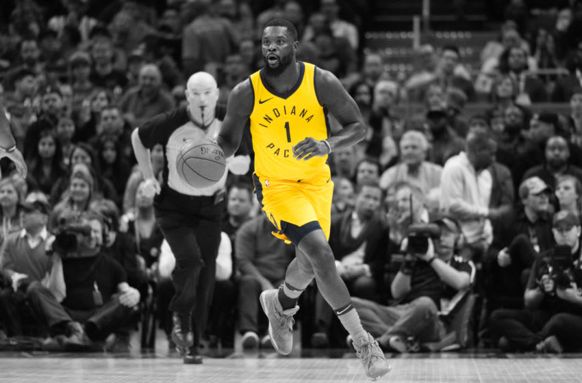 CLEVELAND, OH - JANUARY 26: Lance Stephenson #1 of the Indiana Pacers drives down court during the first half against the Cleveland Cavaliers at Quicken Loans Arena on January 26, 2018 in Cleveland, Ohio. NOTE TO USER: User expressly acknowledges and agrees that, by downloading and or using this photograph, User is consenting to the terms and conditions of the Getty Images License Agreement. (Photo by Jason Miller/Getty Images)