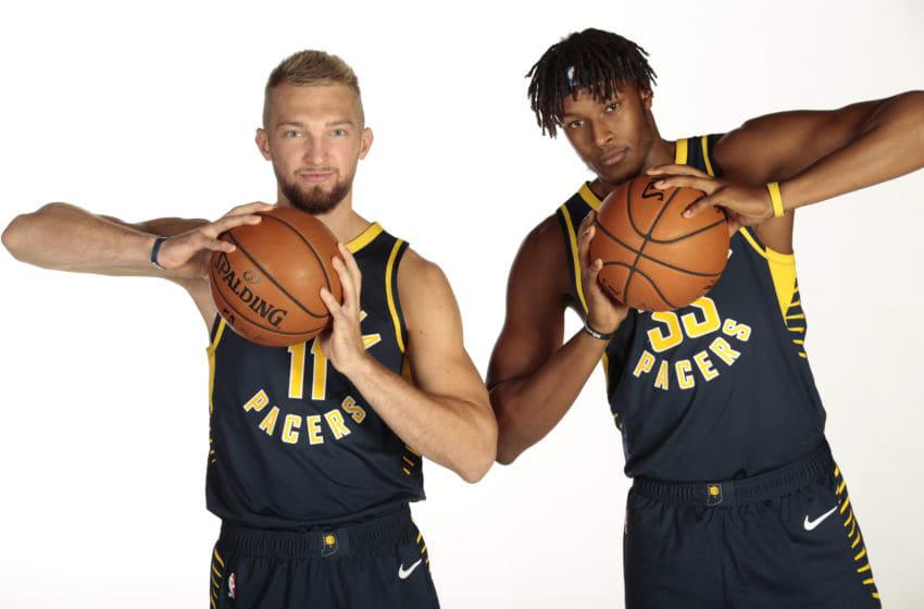 Domantas Sabonis, Myles Turner, Indiana Pacers (Photo by Ron Hoskins/NBAE via Getty Images)