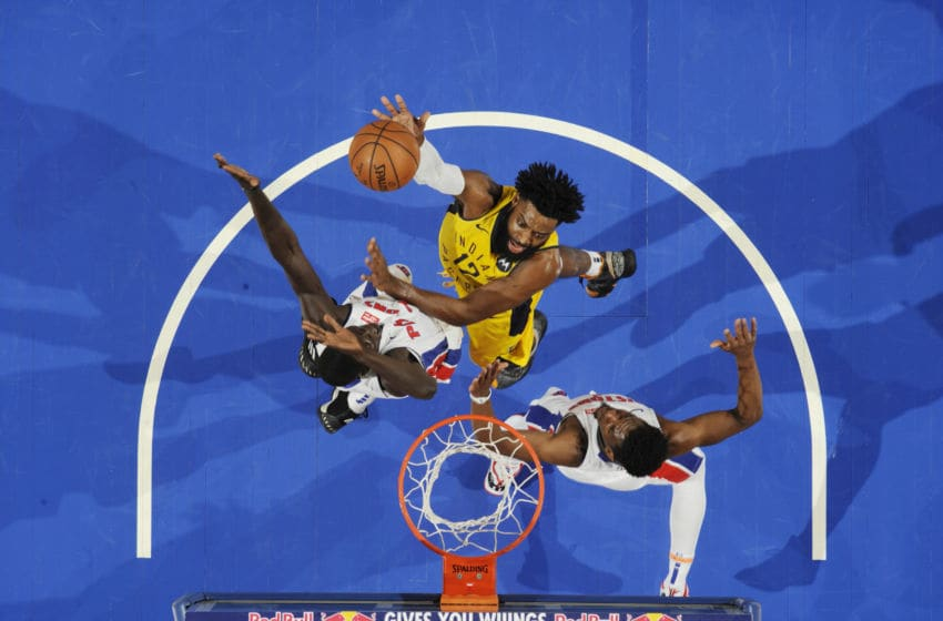 DETROIT, MI - FEBRUARY 25: Tyreke Evans #12 of the Indiana Pacers shoots the ball against the Detroit Pistons on February 25, 2019 at Little Caesars Arena in Detroit, Michigan. NOTE TO USER: User expressly acknowledges and agrees that, by downloading and/or using this photograph, User is consenting to the terms and conditions of the Getty Images License Agreement. Mandatory Copyright Notice: Copyright 2019 NBAE (Photo by Chris Schwegler/NBAE via Getty Images)
