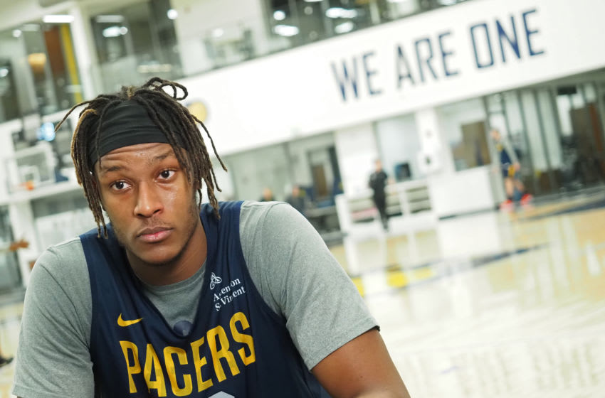 Myles Turner of the Indiana Pacers (Photo by Ron Hoskins/NBAE via Getty Images)