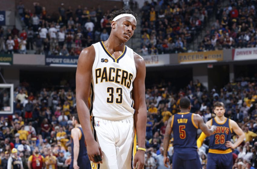 INDIANAPOLIS, IN - APRIL 23: Myles Turner