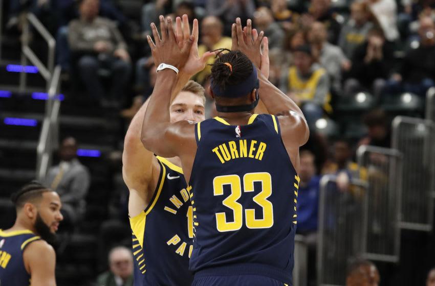 Indiana Pacers, Myles Turner, Domantas Sabonis - Credit: Brian Spurlock-USA TODAY Sports