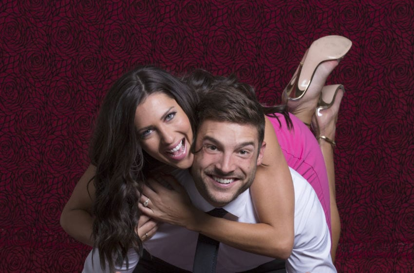 THE BACHELORETTE - It's official! During the season finale of the The Bachelorette Becca Kufrin made Garrett Yrigoyen a happy man by choosing him and he got down on one knee and proposed. (ABC/Heidi Gutman) BECCA KUFRIN, GARRETT YRIGOYEN