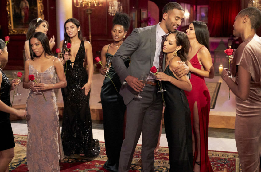 THE BACHELOR - Ò2504Ó Ð Still reeling from SarahÕs sudden departure, Matt fights his tendency to put up walls as his journey continues with the 18 remaining women vying for his heart. Emotions in the house continue to run high, leading to a trash-talking face-off between Victoria and Katie, and even former Bachelor Ben Higgins and Bachelor Nation favorite Wells Adams canÕt diffuse the drama as things get physical on two group dates. Chelsea takes the opportunity to get real with Matt about her journey to self-love, and Chris Harrison drops a bombshell that will change the course of the season on ÒThe Bachelor,Ó airing MONDAY, JAN. 25 (8:00-10:00 p.m. EST), on ABC. (ABC/Craig Sjodin) MATT JAMES, SERENA P.