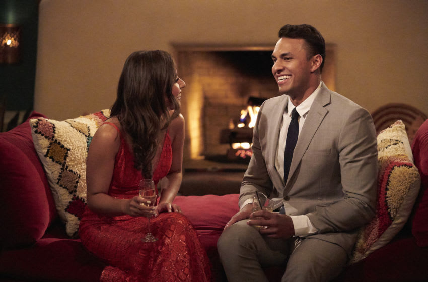 THE BACHELORETTE - Ò1701Ó Ð Katie Thurston sets off on her journey to find love with her charm, wit and take-no-nonsense attitude that fans fell in love with during her time on ÒThe Bachelor.Ó With the help of former Bachelorettes and mentors Kaitlyn Bristowe and Tayshia Adams by her side, Katie is ready to meet her men; with 30 lucky potential suitors pulling out all the stops, props and moves in hopes of catching her eye before the first rose ceremony. Strap in, itÕs going to be a season like no other on ÒThe Bachelorette,Ó airing MONDAY, JUNE 7 (8:00-10:00 p.m. EDT), on ABC. (ABC/Craig Sjodin) KATIE THURSTON, AARON