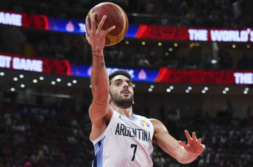 Argentina's Facundo Campazzo takes a shot during the Basketball World Cup final game between Argentina and Spain in Beijing on September 15, 2019. (Photo by Greg BAKER / AFP) (Photo credit should read GREG BAKER/AFP via Getty Images)