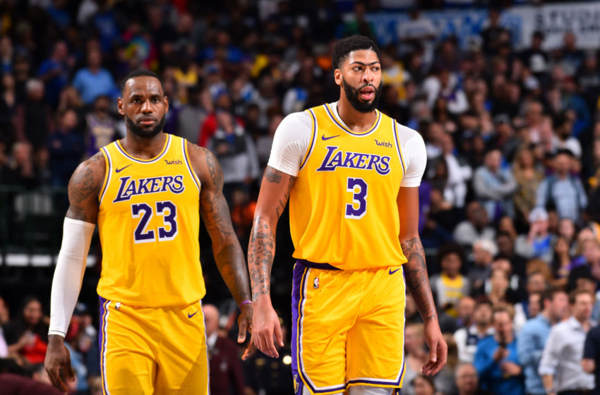 LeBron James, and Anthony Davis of the Los Angeles Lakers. (Photo by Jesse D. Garrabrant/NBAE via Getty Images)