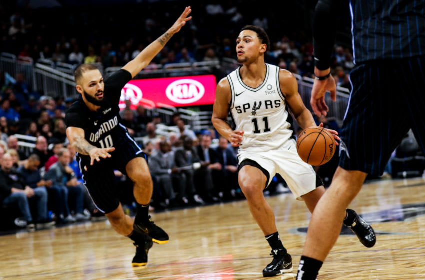 Bryn Forbes of the San Antonio Spurs. (Photo by Harry Aaron/Getty Images)