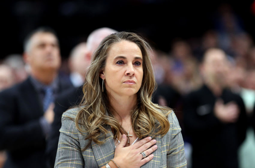Assistant coach Becky Hammon of the San Antonio Spurs. (Photo by Ronald Martinez/Getty Images)