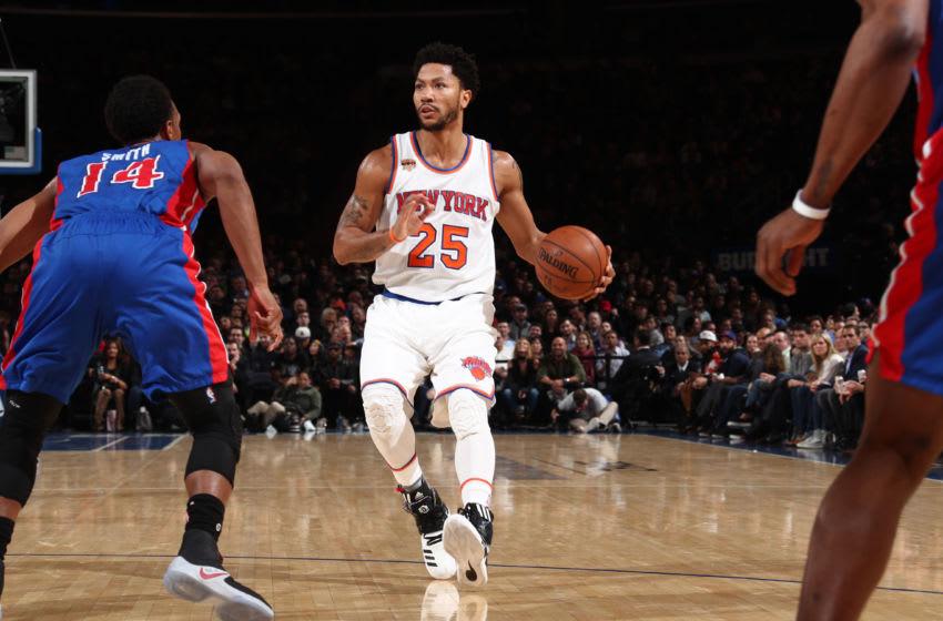 NEW YORK, NY - MARCH 27: Derrick Rose