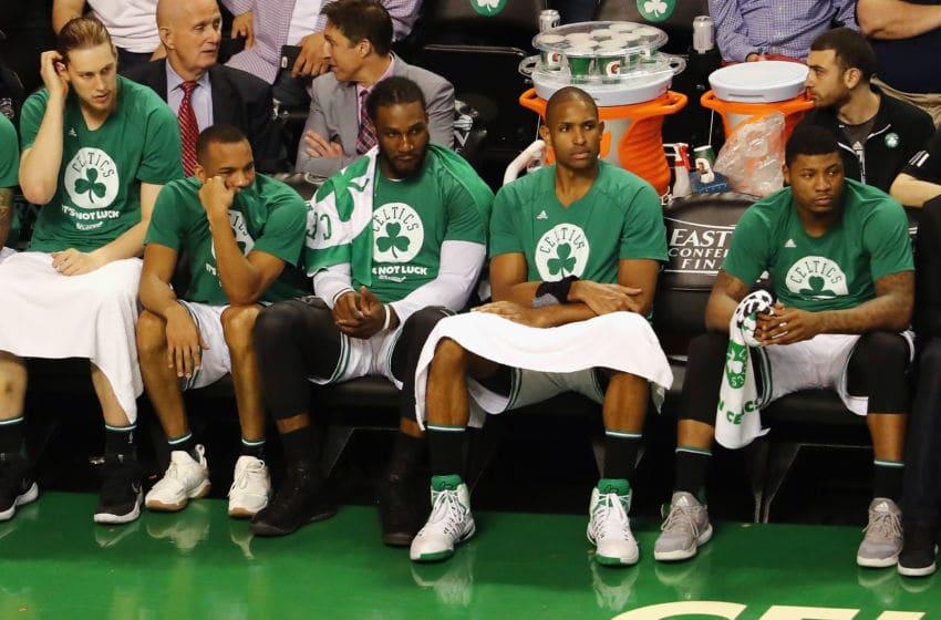 BOSTON, MA - MAY 19: Boston Celtics players including Kelly Olynyk