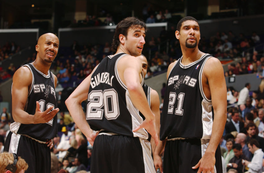 LOS ANGELES - FEBRUARY 3: (Left to Right) Bruce Bowen