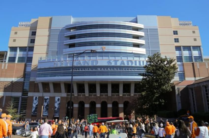 Nov 14, 2015; Knoxville, TN, USA; General view of Neyland Stadium before the game between the Tennessee Volunteers and the North Texas Mean Green. Mandatory Credit: Randy Sartin-USA TODAY Sports
