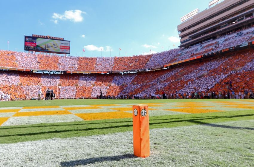 Sep 24, 2016; Knoxville, TN, USA; General view during the first quarter of the game between the Florida Gators and Tennessee Volunteers at Neyland Stadium. Mandatory Credit: Randy Sartin-USA TODAY Sports