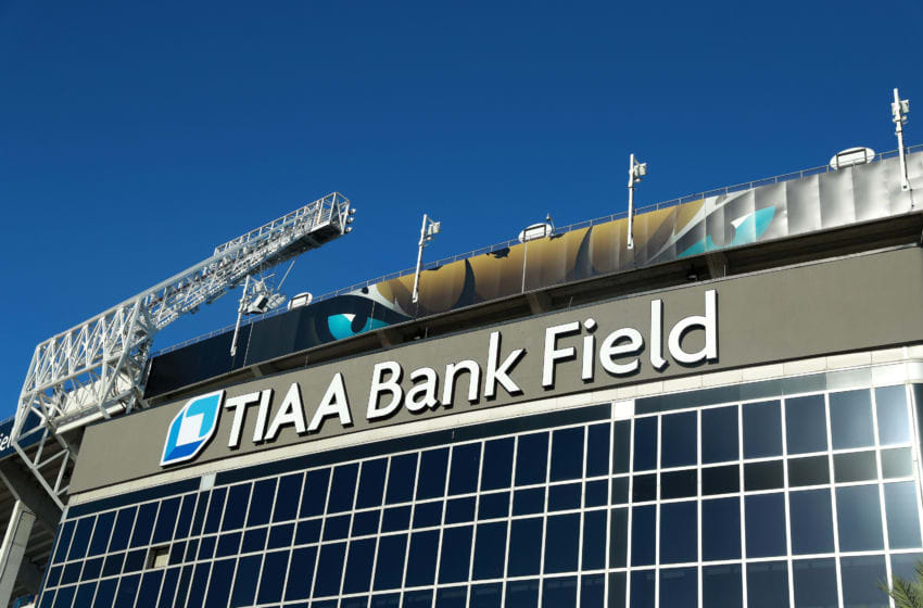 JACKSONVILLE, FL - SEPTEMBER 23: An exterior view of TIAA Bank Field prior to the start of the game between the Tennessee Titans and the Jacksonville Jaguars on September 23, 2018 in Jacksonville, Florida. (Photo by Scott Halleran/Getty Images)
