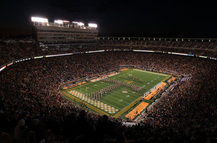 KNOXVILLE, TN - OCTOBER 29: A general view of Neyland Stadium during the South Carolina Gamecocks game against the Tennessee Volunteers on October 29, 2011 in Knoxville, Tennessee. (Photo by Andy Lyons/Getty Images)