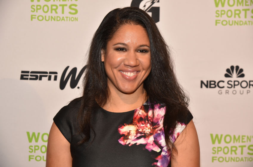 NEW YORK, NY - OCTOBER 19: Basketball player Kara Lawson attends the 37th Annual Salute To Women In Sports Gala at Cipriani Wall Street on October 19, 2016 in New York City. (Photo by Theo Wargo/Getty Images for Women's Sports Foundation )