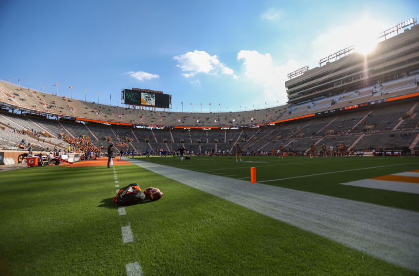 Dec 5, 2020; Knoxville, Tennessee, USA; General view before the game between the Tennessee Volunteers and the Florida Gators at Neyland Stadium. Mandatory Credit: Randy Sartin-USA TODAY Sports