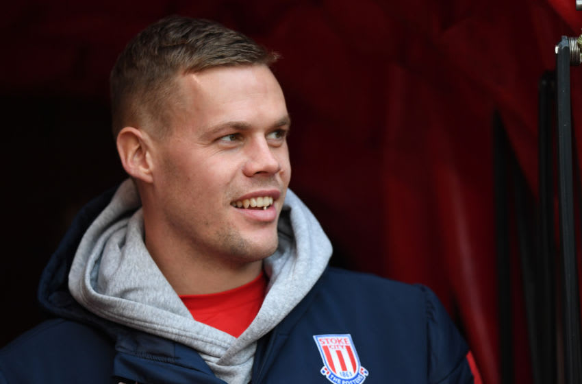 STOKE ON TRENT, ENGLAND - NOVEMBER 23: Ryan Shawcross of Stoke City looks on before the Sky Bet Championship match between Stoke City and Wigan Athletic at Bet365 Stadium on November 23, 2019 in Stoke on Trent, England. (Photo by Nathan Stirk/Getty Images)