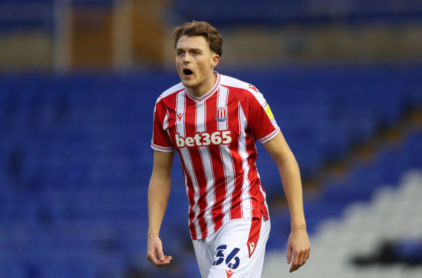 BIRMINGHAM, ENGLAND - DECEMBER 26: Harry Souttar of Stoke City during the Sky Bet Championship match between Coventry City and Stoke City at St Andrew's Trillion Trophy Stadium on December 26, 2020 in Birmingham, England. (Photo by James Williamson - AMA/Getty Images)
