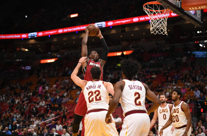 Bam Adebayo #13 of the Miami Heat in action during the game against the Cleveland Cavaliers (Photo by Mark Brown/Getty Images)
