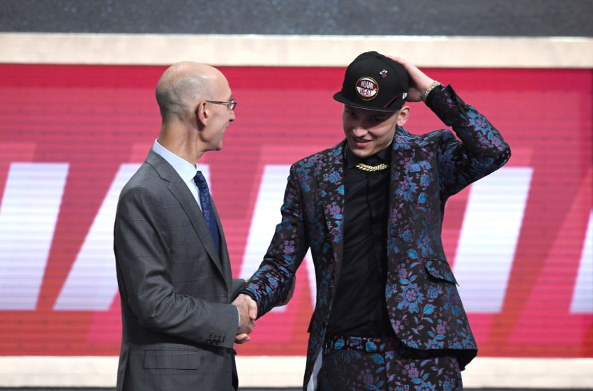 Tyler Herro NBA Commissioner Adam Silver (Photo by Sarah Stier/Getty Images)