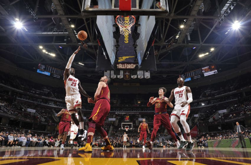 Kendrick Nunn #25 of the Miami Heat shoots the ball against the Cleveland Cavaliers (Photo by David Liam Kyle/NBAE via Getty Images)