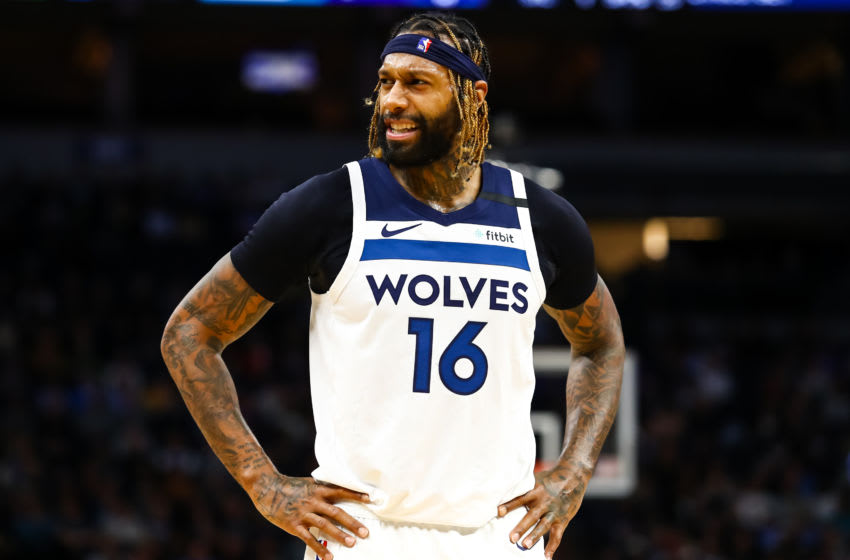 James Johnson #16 of the Minnesota Timberwolves (Photo by David Berding/Getty Images)