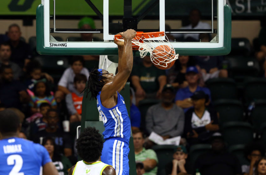 Memphis Tigers forward Precious Achiuwa (55) dunks against the South Florida Bulls (Kim Klement-USA TODAY Sports)