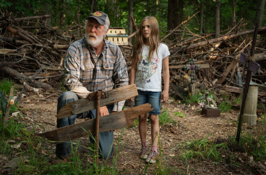 John Lithgow as Jud, left, and Jeté Laurence as Ellie in PET SEMATARY, from Paramount Pictures. -- Photo Credit: Kerry Hayes -- Acquired via Paramount Pictures Press Site